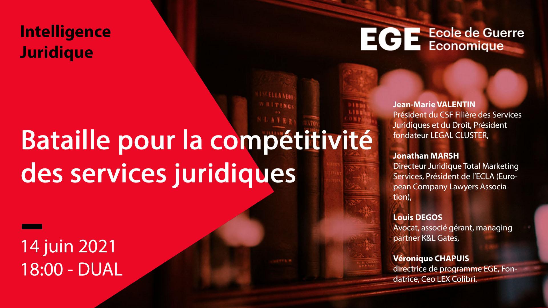 Bataille pour la compétitivité des services juridiques